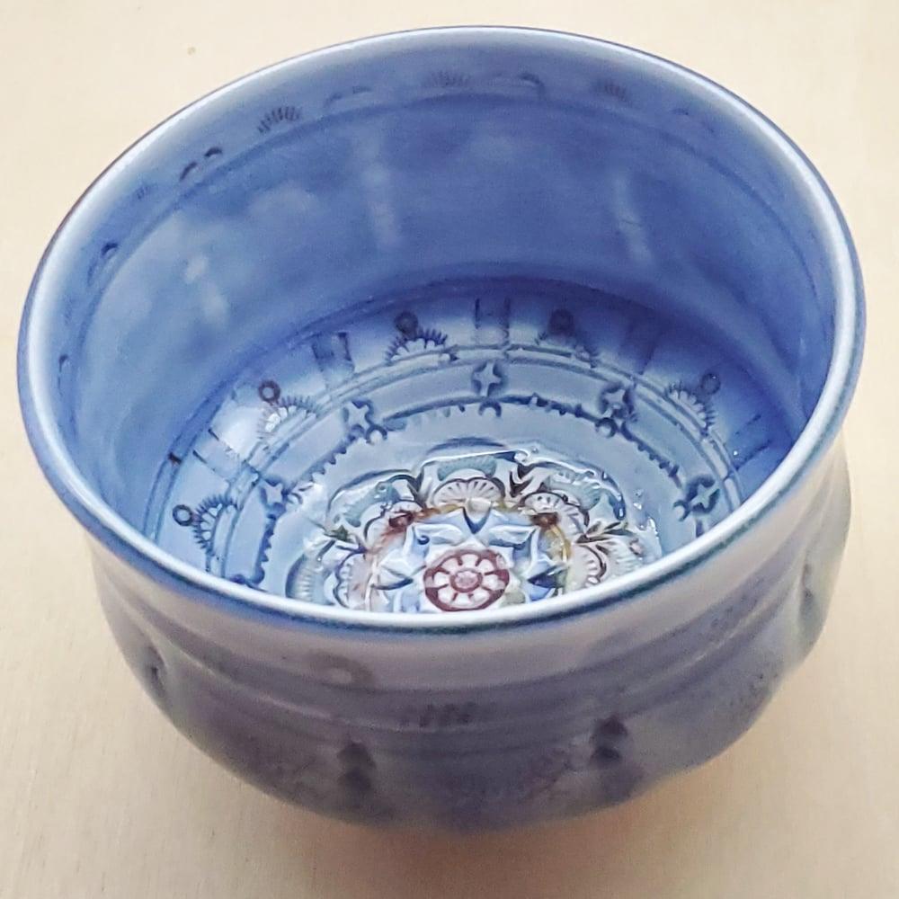 Image of Cobalt Porcelain Handpainted Teabowl