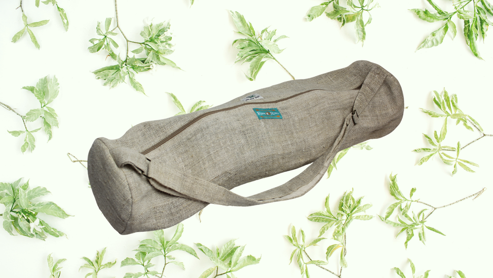 Namaste - Pure Hemp Natural Yoga Pilates Mat Bag with Zip