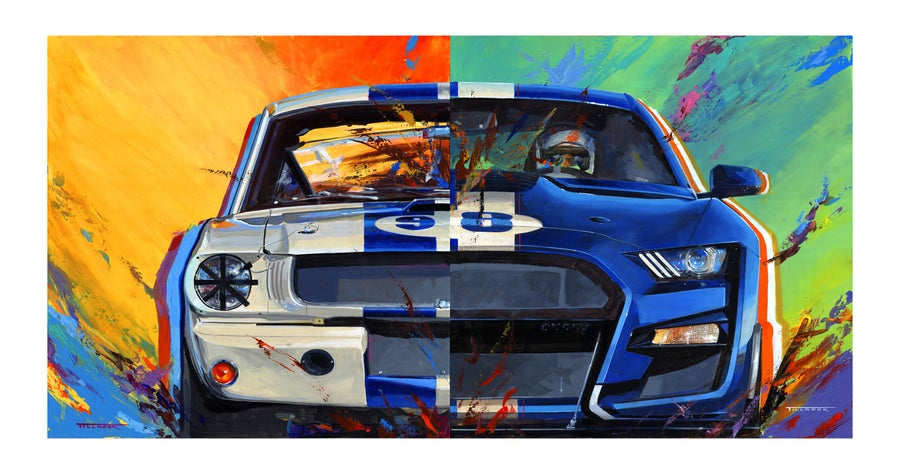 "Image of ""Mustangs"" (New & Old) 13""x19"" Painting Print"