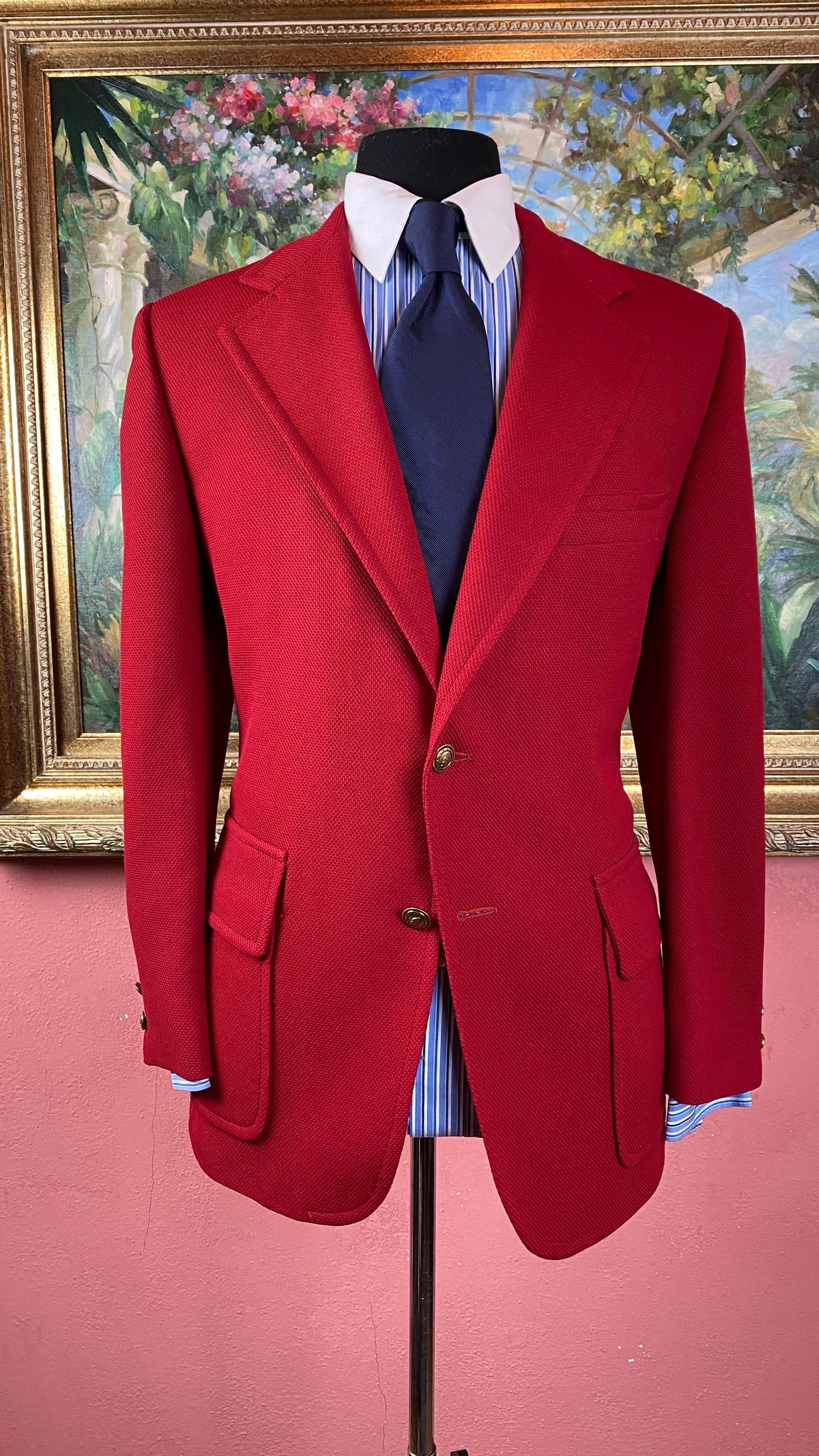 Image of  VTG Cranberry Red Blazer