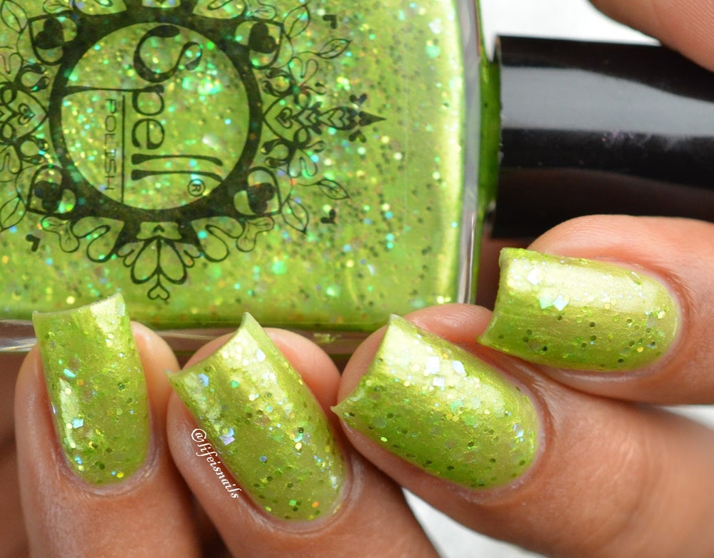 """Image of ~Firefly Fairies~ spring green glitter shimmer Spell nail polish """"Legends & Dreams""""!"""