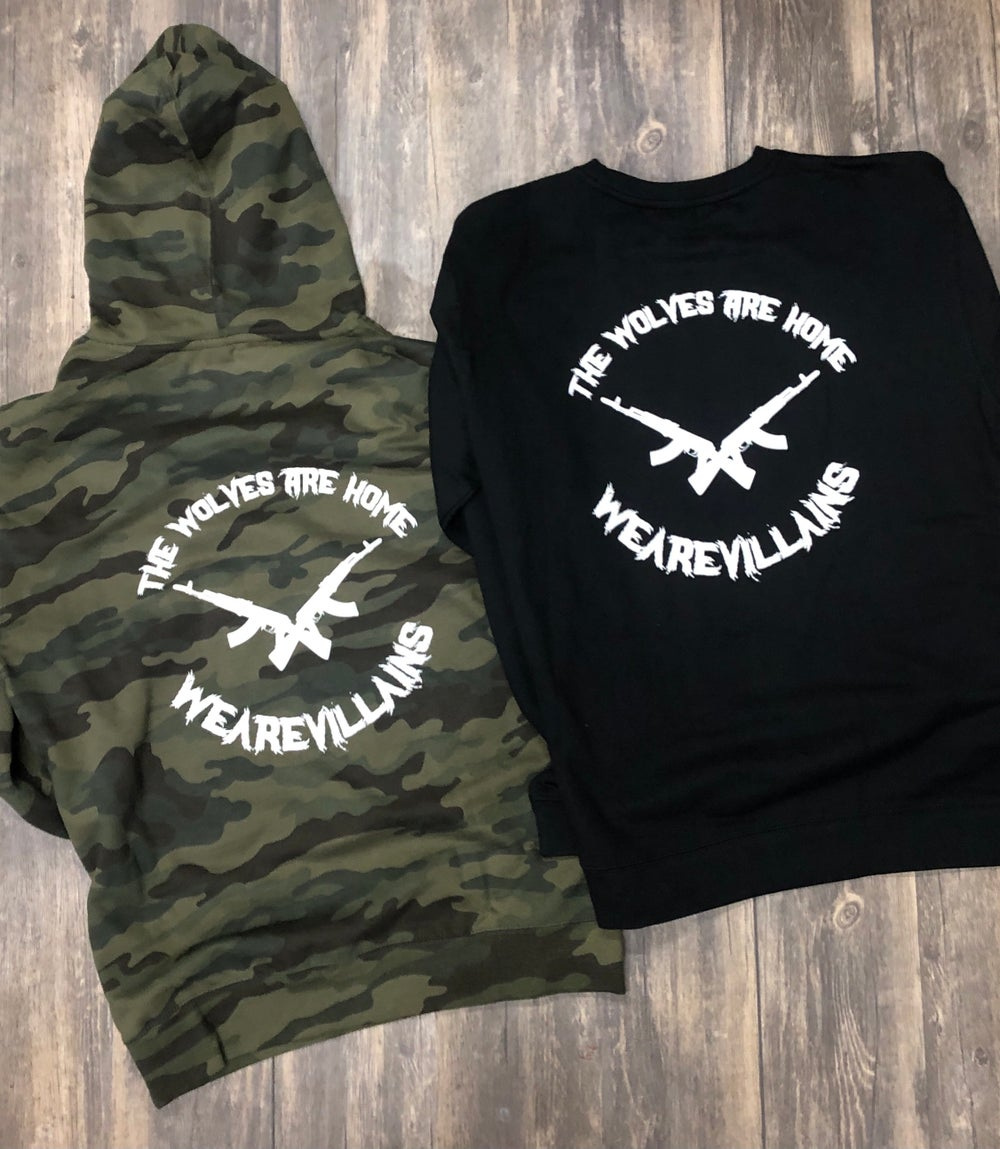 THE WOLVES ARE HOME hoodies + crewnecks