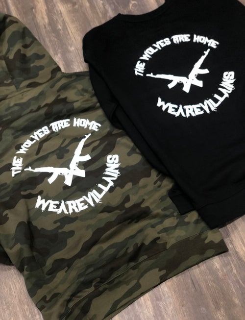 Image of THE WOLVES ARE HOME hoodies + crewnecks