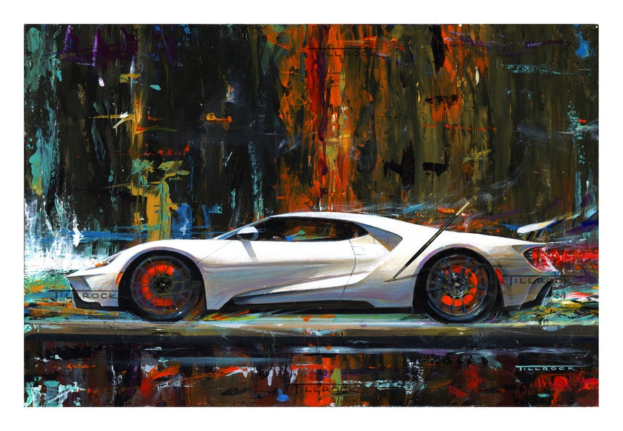 "Image of ""Future Shock"" 2017 Ford GT Painting 13""x19"""