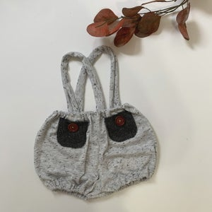 Image of Grey Spec Sitter Suspender Shorties