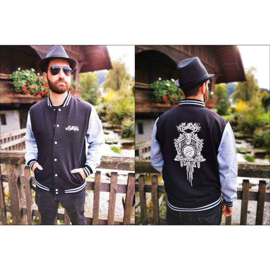 "Image of College Jacket ""Black Forest"""