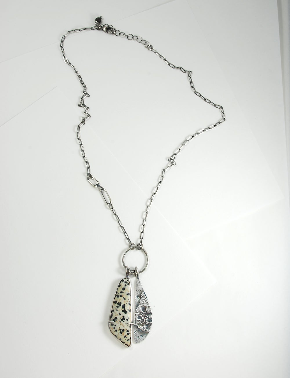 Image of Dalmatian Stone and Sterling Silver Necklace