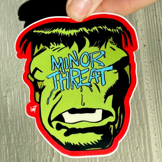 Image of ANGRY GREEN MAN SLAP-sticker