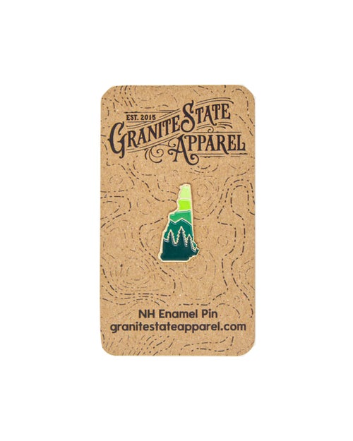 Image of NH Enamel Pin- Green Mountains
