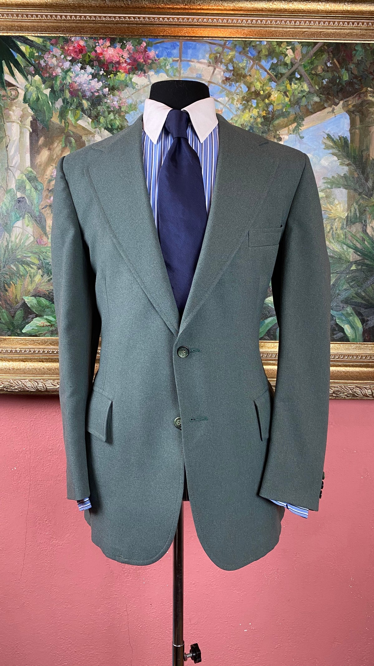 Image of VTG Dark Mint Green Suit