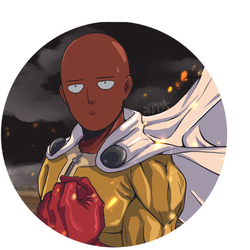 """Image of """"One Punch Man"""" Sticker"""