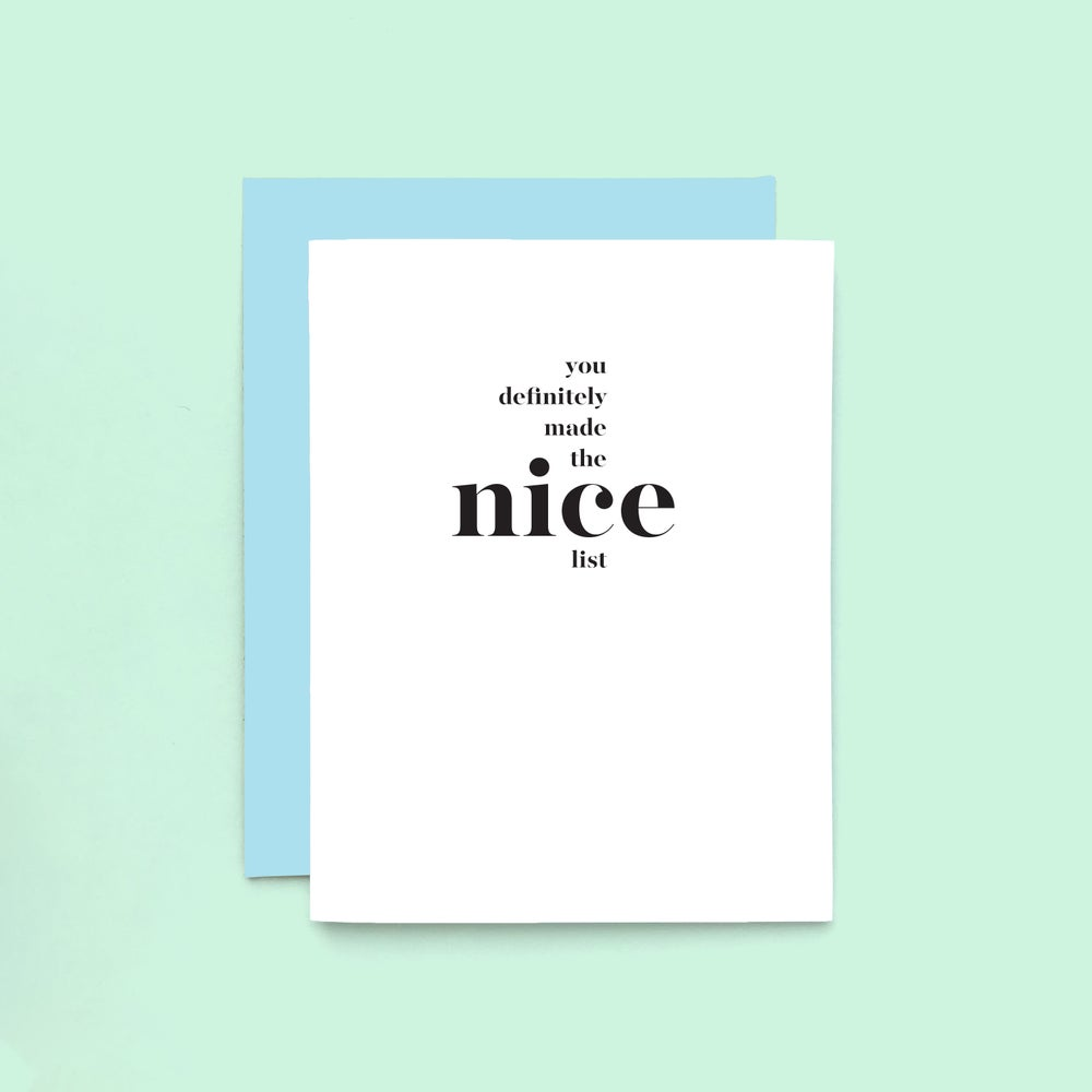 Image of Nice List Holiday Card - Letterpress Printed Christmas Card
