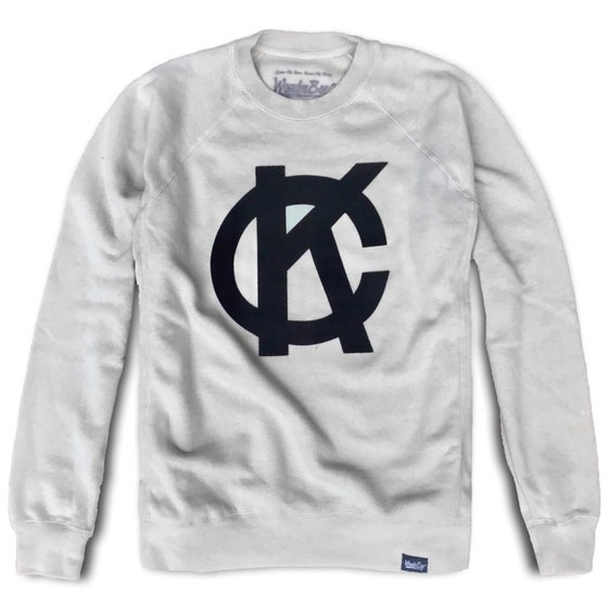 Image of Felt KC Monogram Crewneck Fleece | Stone