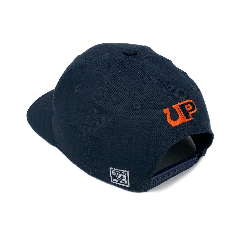 Image of UP / THE GAME HAT 07 - CLIMB - Navy/Orange