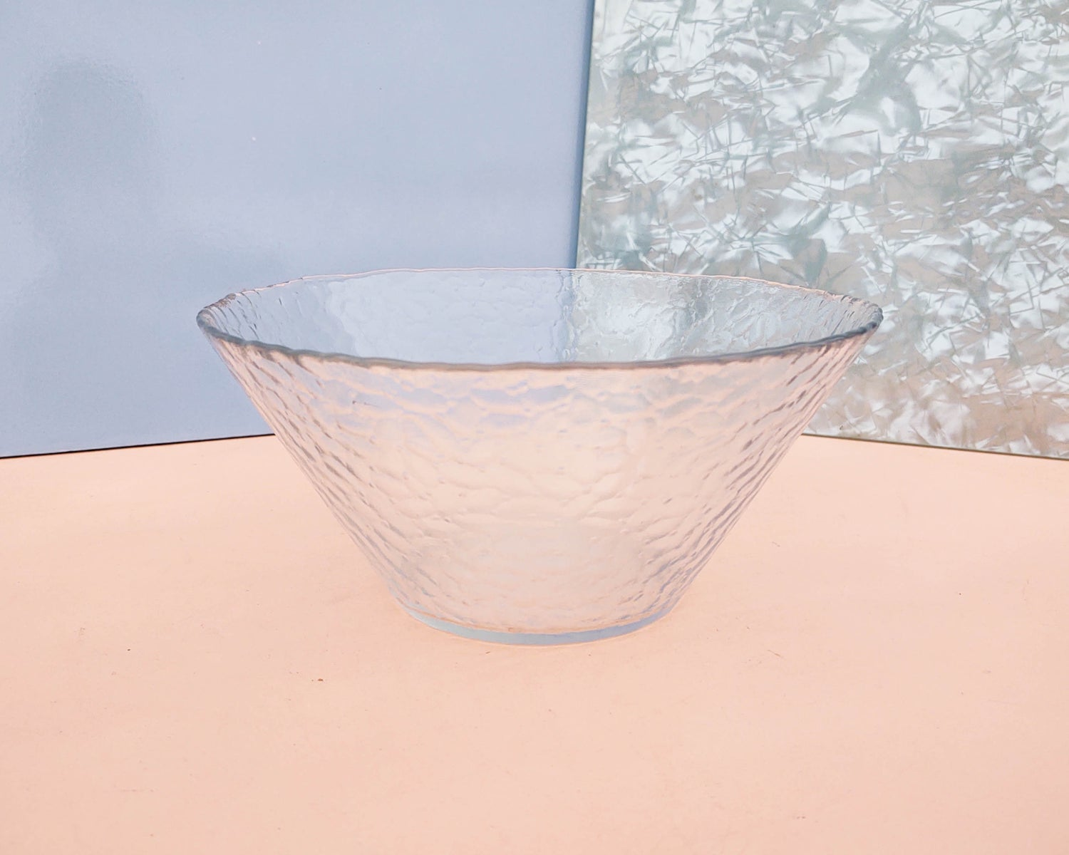 Conical Clear Glass Salad Bowl