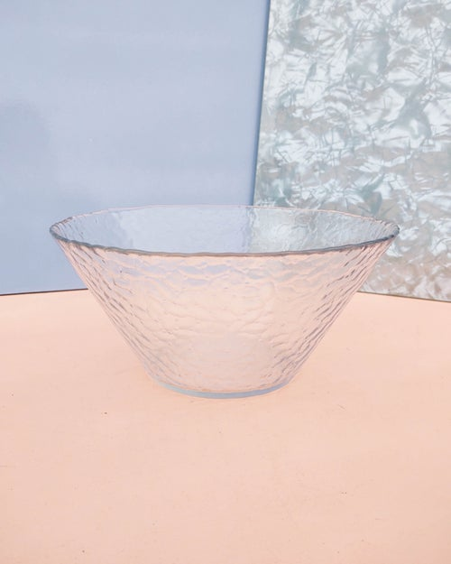 Image of Conical Clear Glass Salad Bowl