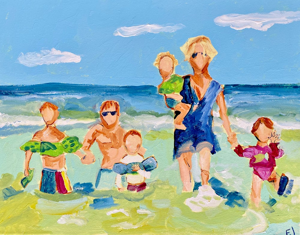 Image of Family Beach Trip Commission