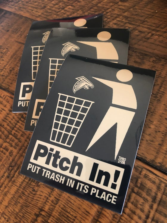 """Image of """"Pitch In"""" Sticker"""