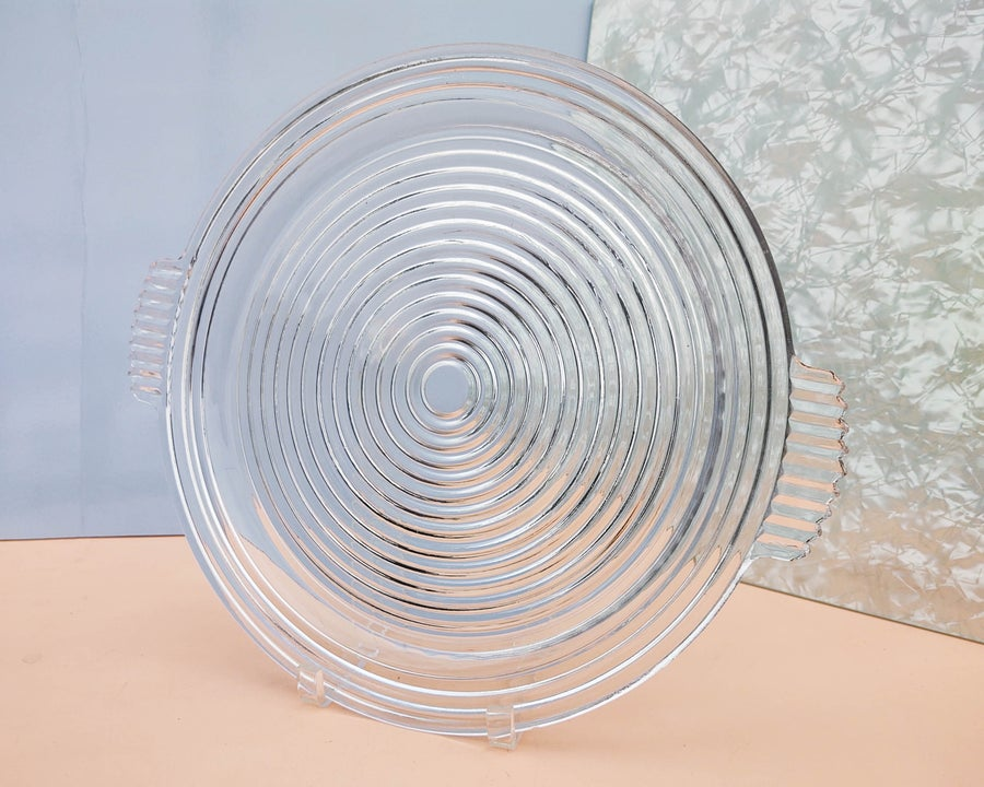 Image of Rippled Glass Circular Serving Tray