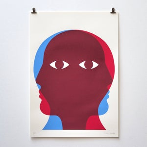 Image of Limited edition silkscreen print 50 x 70 cm 'Profil Double'