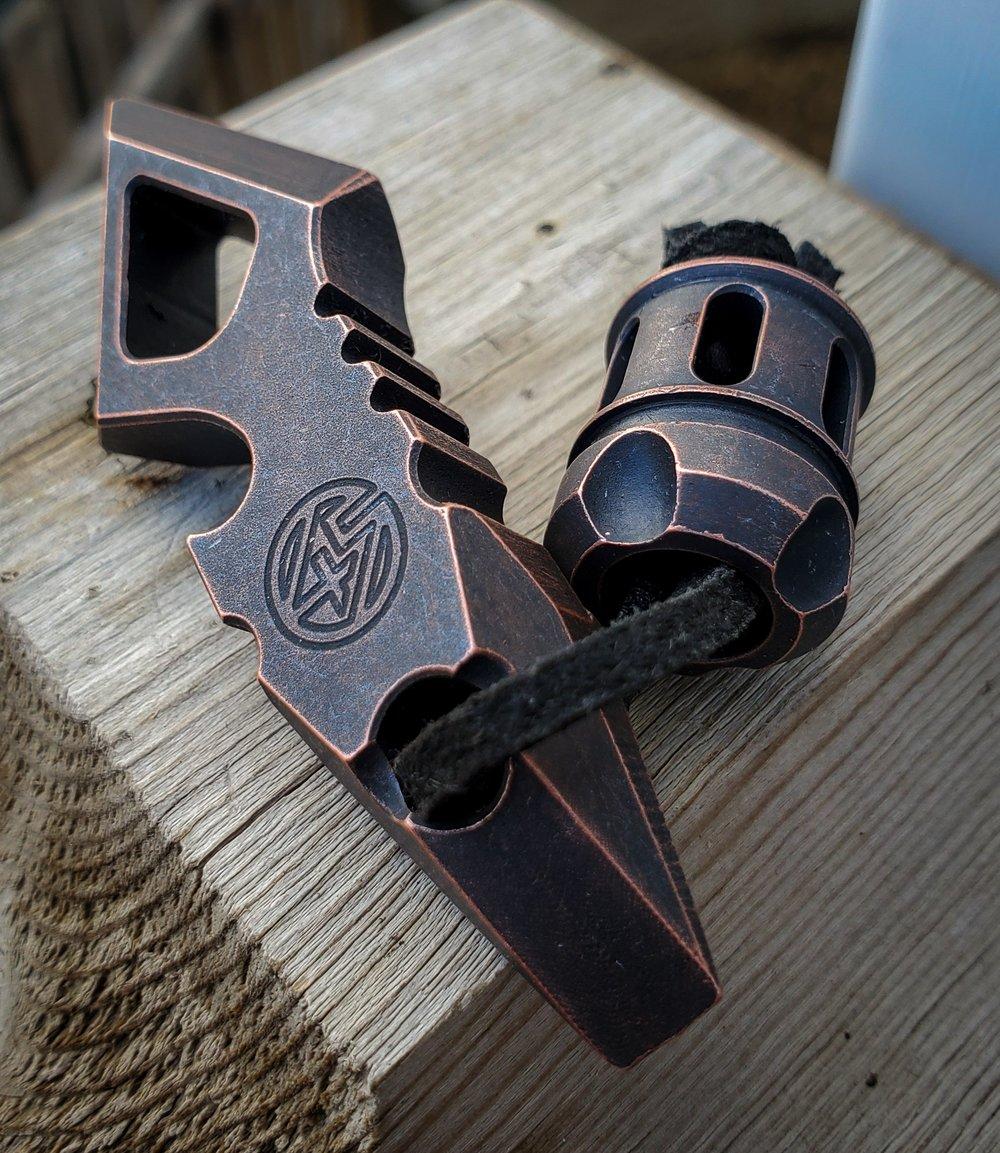 Apache V2 & Fury bead set antique copper