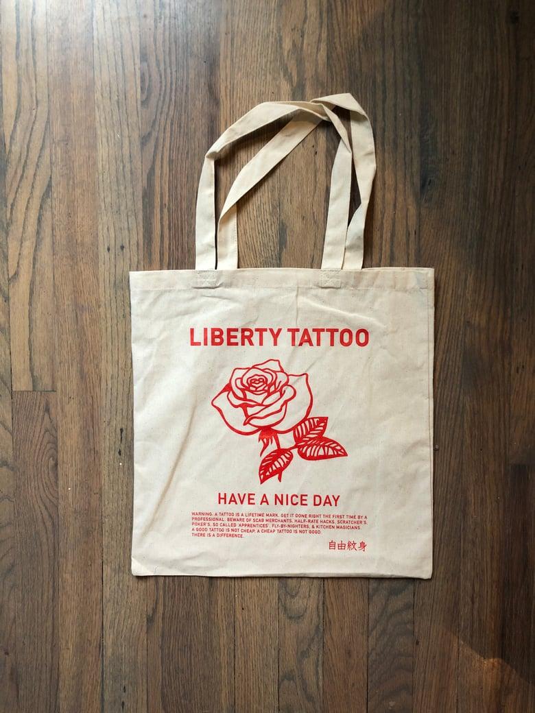 Image of Chinatown rose tote bag