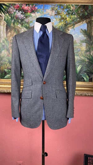 Image of VTG Blue Tweed Jacket
