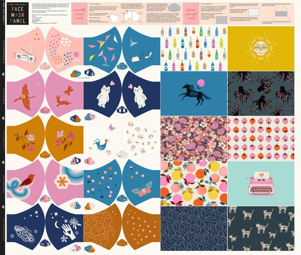 Image of Ruby Star Face Mask Panel from Moda Fabrics