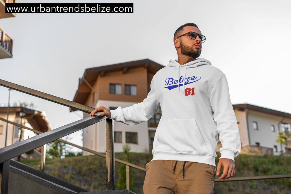 Image of BELIZE WHITE W/ROYAL BLUE AND RED