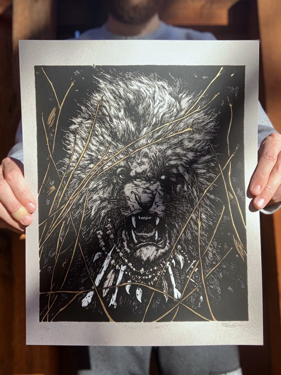 Image of Trophy Scars - Limited Edition Screen Print