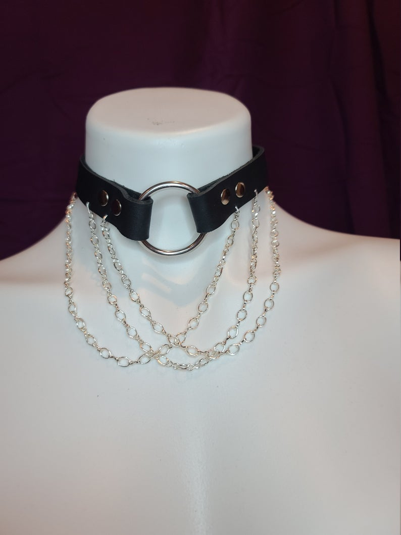 Image of Choker with Chains