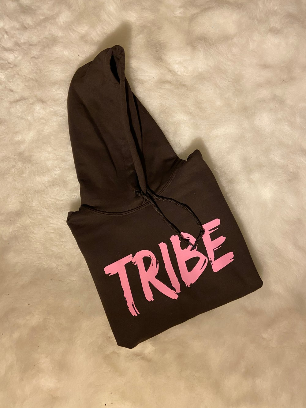 Image of Chiefy Tribe Hoodie Pink Label Mocha