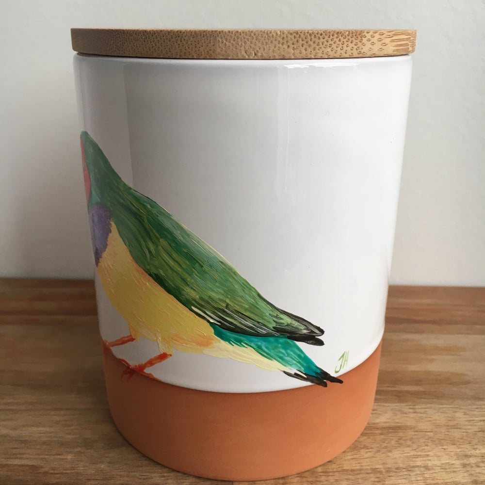 Gouldian Finch Canister