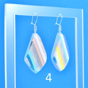 Image of Stripey Nugget Earrings 4 and 5