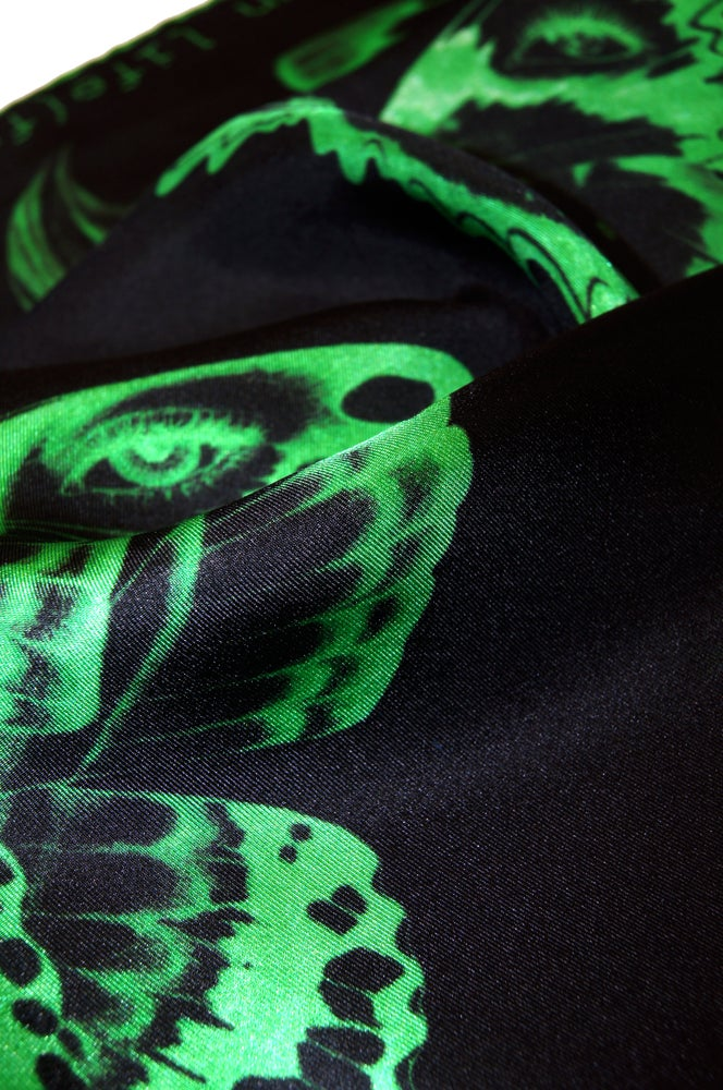"""Image of """"Method Not Allowed""""  / Green Silk Scarf"""