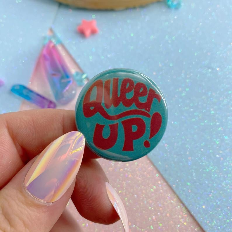 Image of Queer Up Button Badge