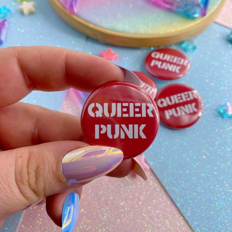 Image of Queer Punk Button Badge