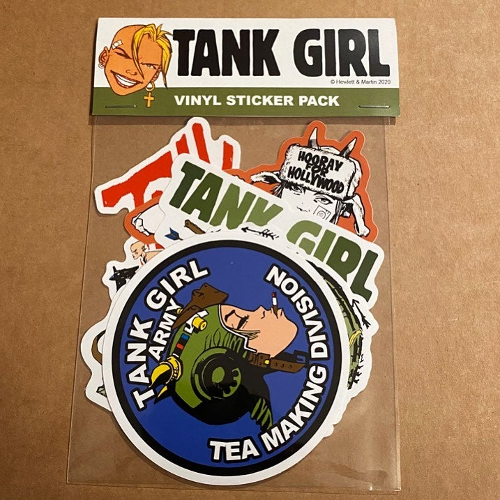 Image of TANK GIRL VINYL STICKER DECAL PACK