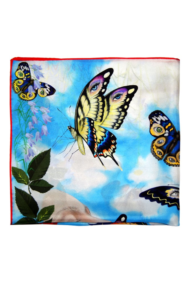 """Image of """"Enhance Your Calm / Day"""" Silk Scarf"""