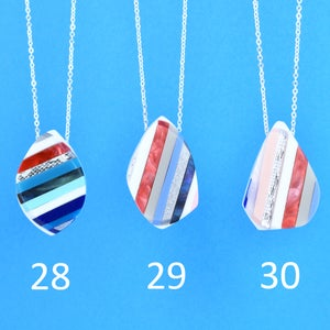 Image of Stripey Nugget Necklaces 28 to 30