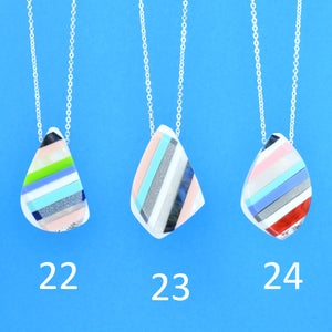Image of Stripey Nugget Necklaces 22 to 24