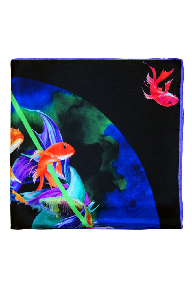 """Image of """"Bad Request / Black"""" Silk Scarf"""