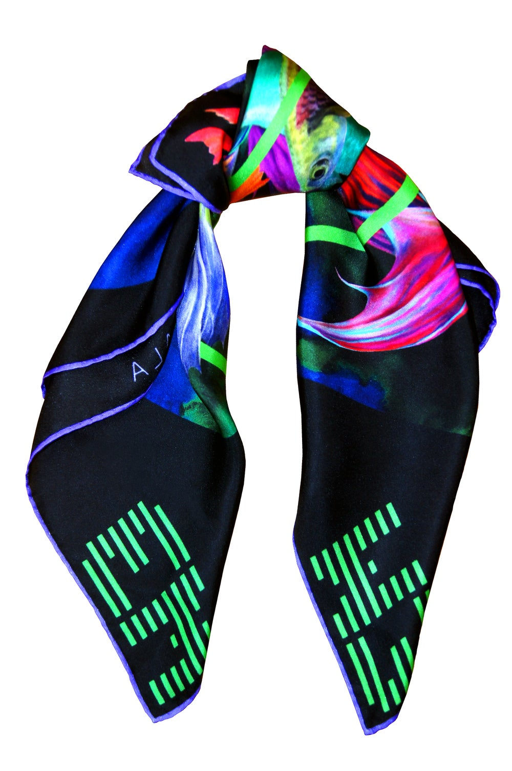 "Image of ""Bad Request / Black"" Silk Scarf"