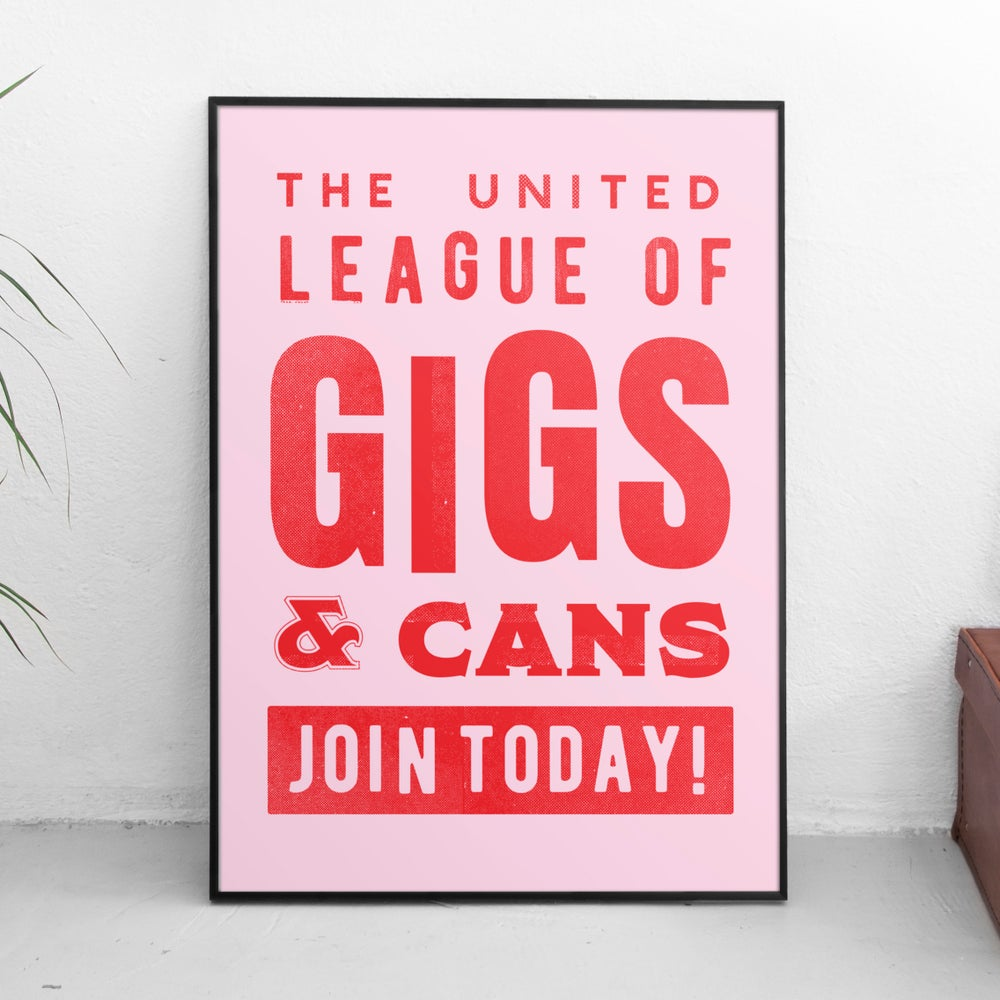 Image of Gigs & Cans Poster