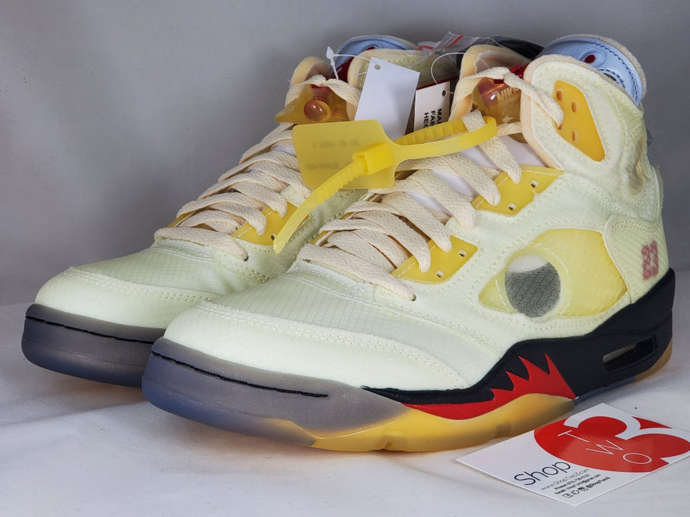 Image of Air Jordan 5 Retro Off-White  Fire Red