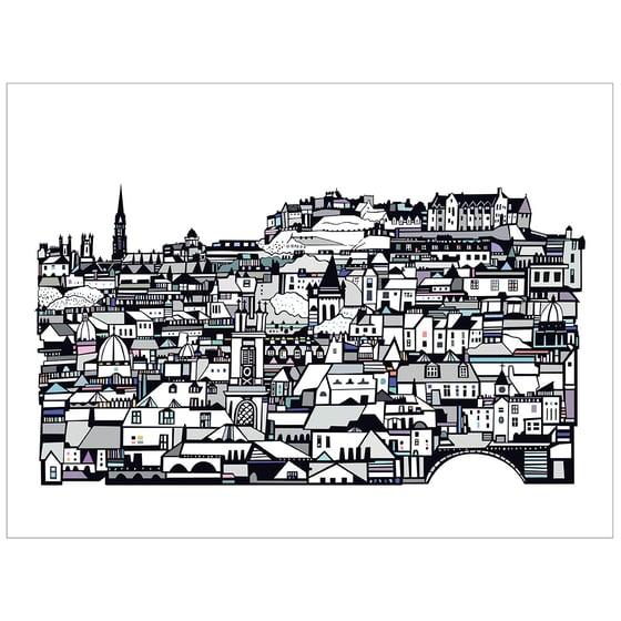 Image of Edinburgh from Stockbridge Digital Print