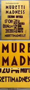 Poster Letterpress Murettti Madness 2020