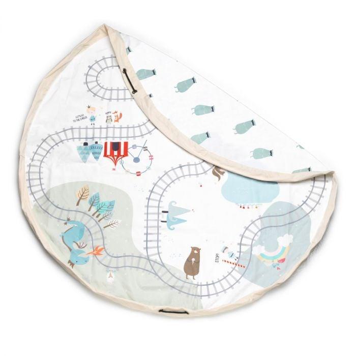 Image of Trainmap/Bears Toy Storage Bag