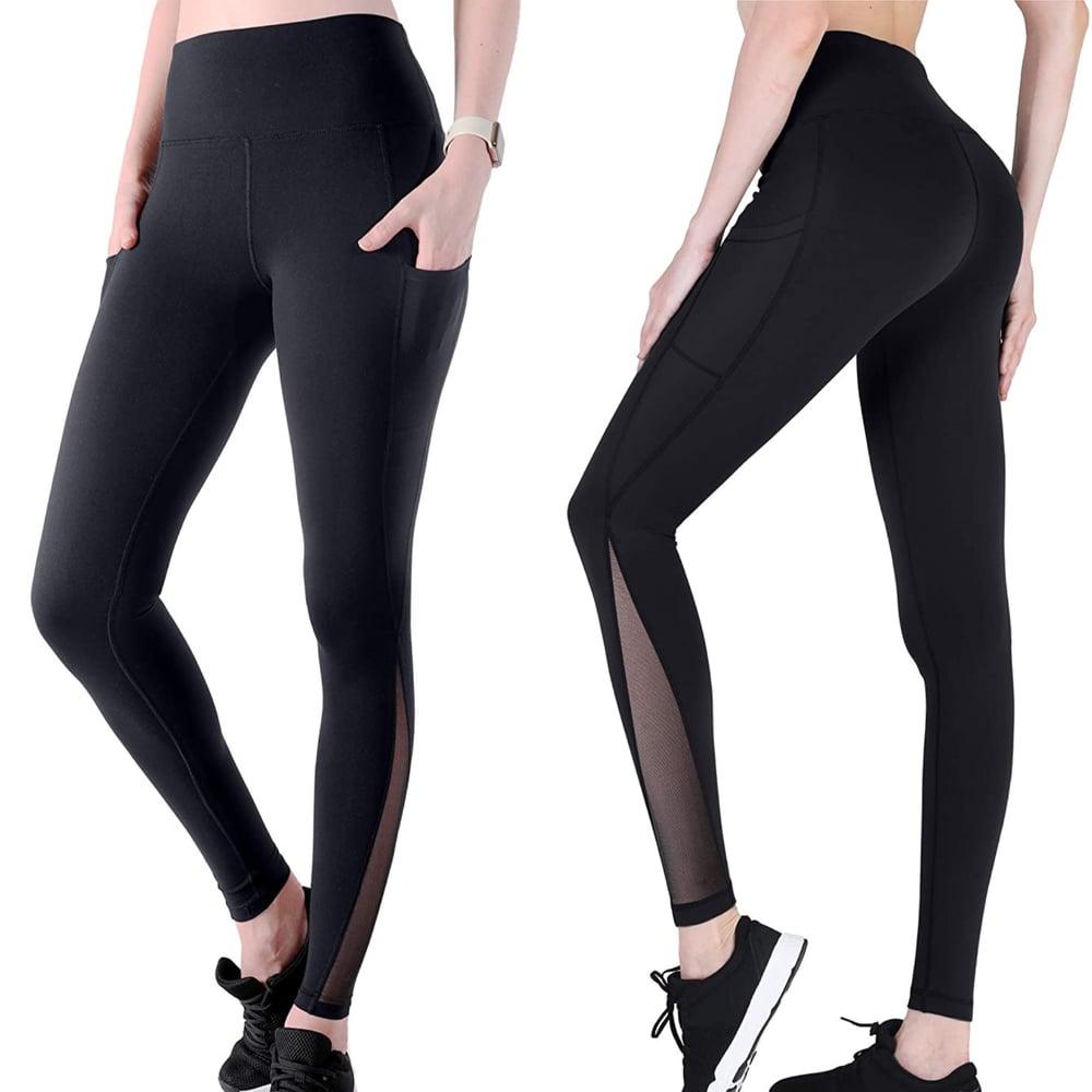 Image of AraBella Black Mesh Running Pants/Leggings