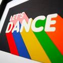 Let's Dance Framed Woodcut Artwork